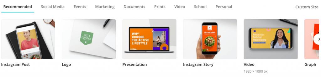 Choose dimensions for your Social Media Posts Design